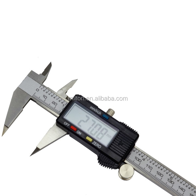 Point jaw digital caliper 150mm 6inch digital vernier caliper with point jaws