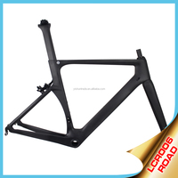 2016 YISHUN 700C carbon road bike 1 1/8''-1 1/2'' frame/fork/seat post/clamp BB86 Di2 aerodynamic bicycle race fram kit LCR006