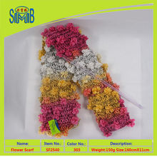 2016 head scarf manufacturer shingmore hot wholesale oeko tex quality new popular hand knitted fancy flower scarf