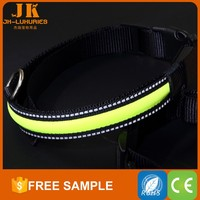tops pet products private label wholesale china promotion reflective nylon led dog collars