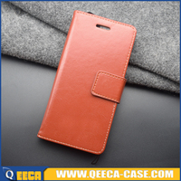 Luxury credit card holder leather cover for iphone flip wallet case