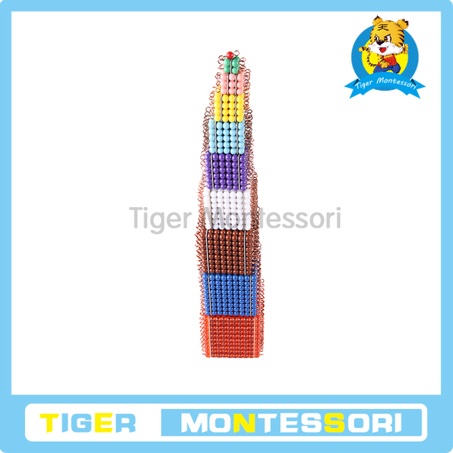 Tiger Montessori Materials:C176 Colored Bead Cubes Mathematic Learning Resources