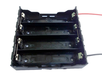 4X 18650 series battery holder,Li-ion battery holder with wires