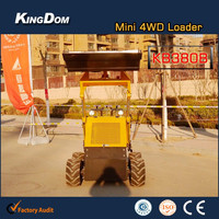 Full-featured mini wheel loader,4WD mini skid loader with CE made in China