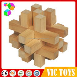 wooden iq puzzle toy, educational toy 3d puzzle