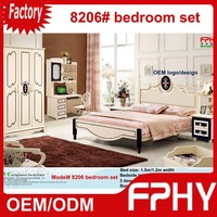 2016 New Hot FPHY 82# series MDF Solid Wood Matte kids furniture king size wooden bed frame