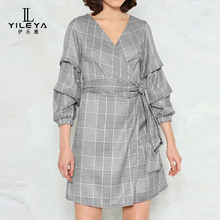 New fashion lady dress shirt,long sleeve shirt dress guangzhou