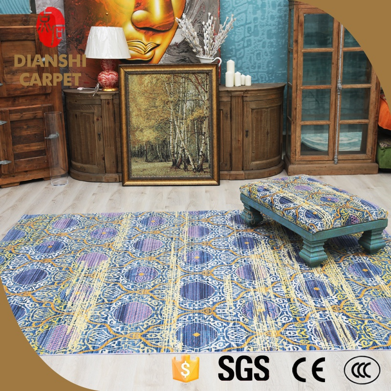 Epidemic Trendy Simplicity Chinese Carved Wool Rugs For Hotel Lobby