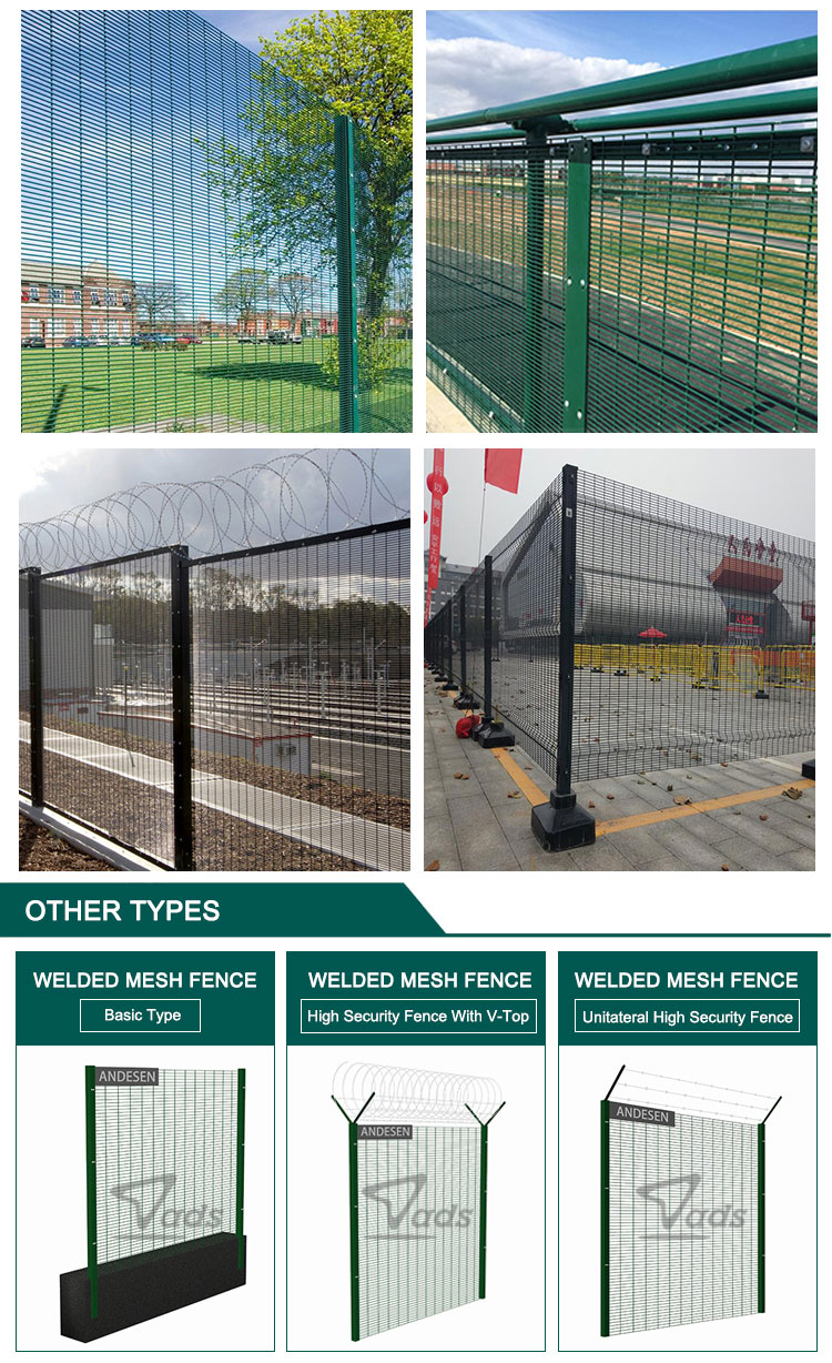 High Security Galvanized Steel Razor Barbed Wire Prison 358 Fence
