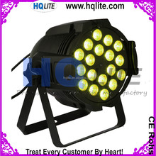 18 LED 4in1 RGBW/5IN1 RGBWA/6IN1 RGBWA UV multi color led par light, quad color led par, full color led par light