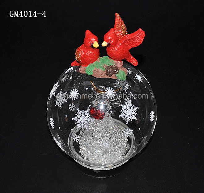 Large Decorative Glass Balls with Angel Inside