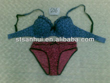 Wholesale latest design of ladies print bra set factory