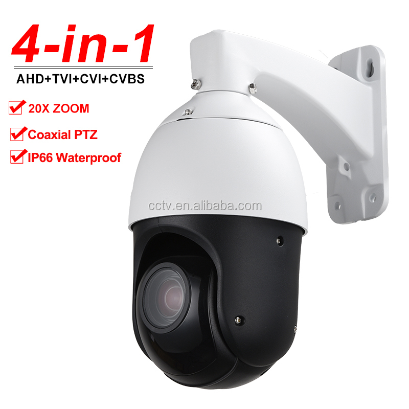 "Outdoor 4"" MINI Full HD 1080P AHD CVI TVI CVBS 4in1 High Speed Dome PTZ Camera 4-in-1 20X Optical Zoom Auto Focus Day Night 100M"
