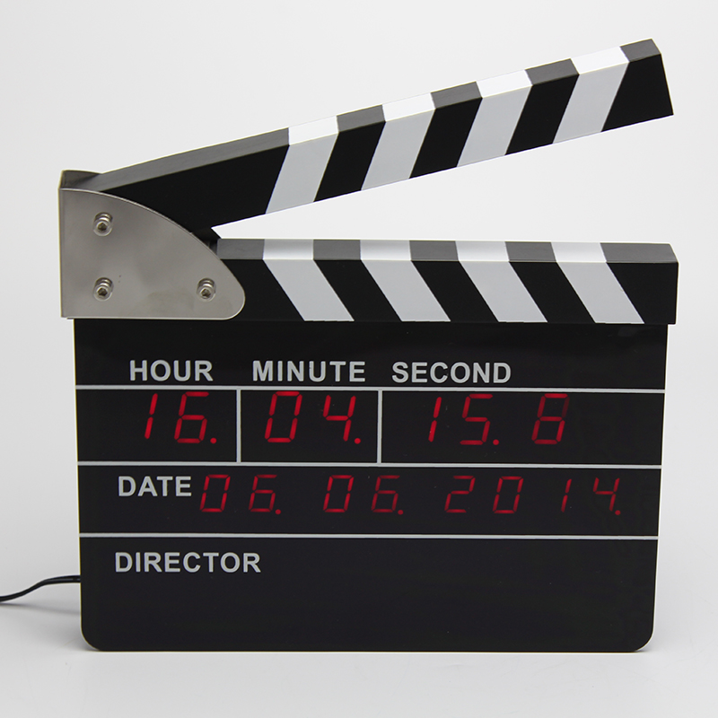 Film Academy Gift Item Movie clappers desk clock .director clock