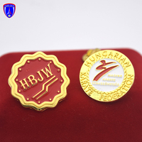Custom design beautiful gold metal badge soft enamel pin of China factory directly supply