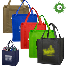 Professional image custom logo printed recyclable pp non woven laminate wine bag
