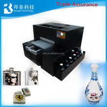 UV Flatbed 6 colors Inkjet Printer machine small size with white ink