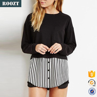 Wholesale Casual Plain Clothing Manufacturer Stripe Long Sleeve Blouses For Women