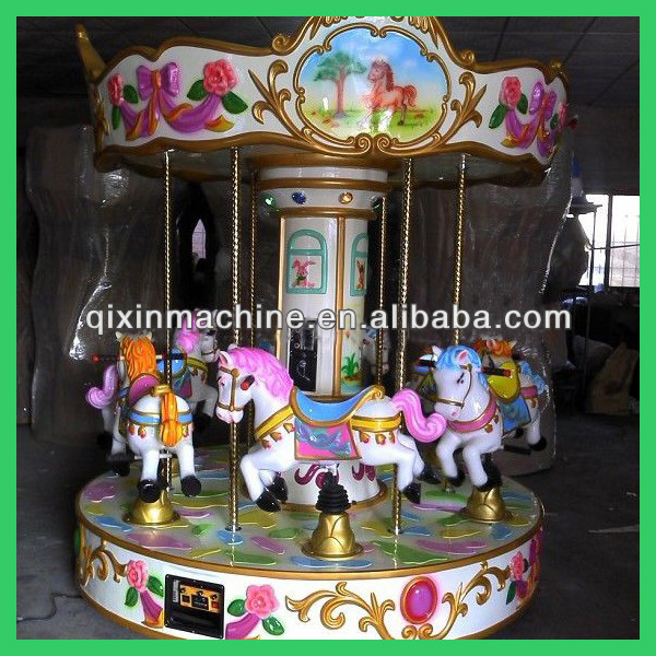 Interesting amusement ride 6seats electric merry-go-round