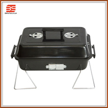 BBQ Requirement , Good Quatily Promotional Portable Charcoal BBQ Grill , Folding Holder