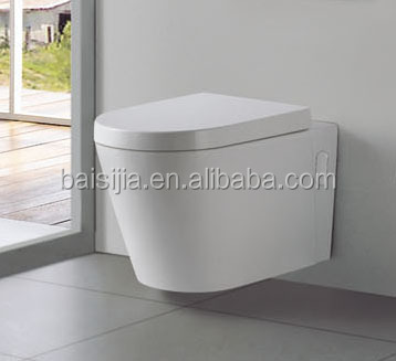 Popular bathroom wall-hung toilet/wall hanging toilet/wall hung wc toilet (BSJ-T077)