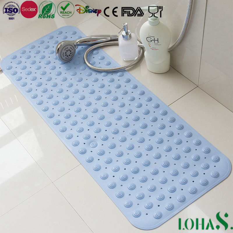 Household Product Extra Large Rubber Non Slip Shower Mat