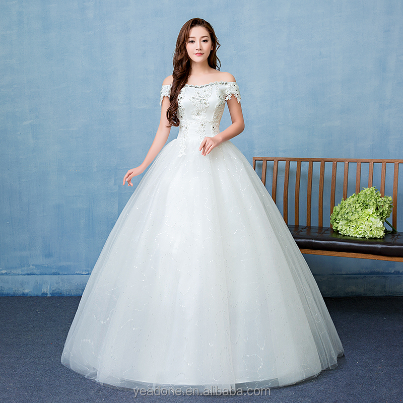 2018 China Factory Wholesale Alibaba Women White Wedding Dresses