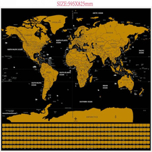 "Hot Sale Machine Map size 82.5x59.4cm travel maps ""it's a beautiful world"" scratch your travels track map"