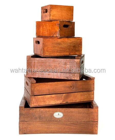 Rustic vintage distressed wooden fruit box /basket /crates wholesale