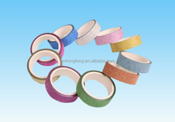 DIY Christmas Decorative Lovely Glitter Paper Craft Masking Tape