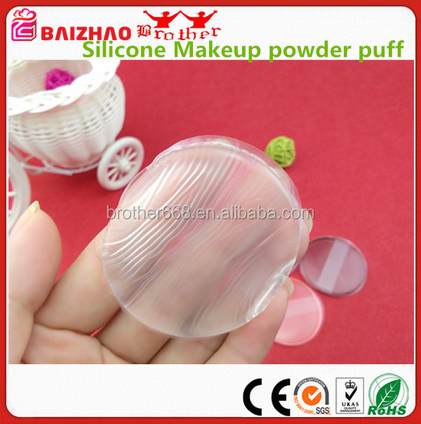 Hot Popular Silicone Makeup powder puff Transparent silicone Powders puff