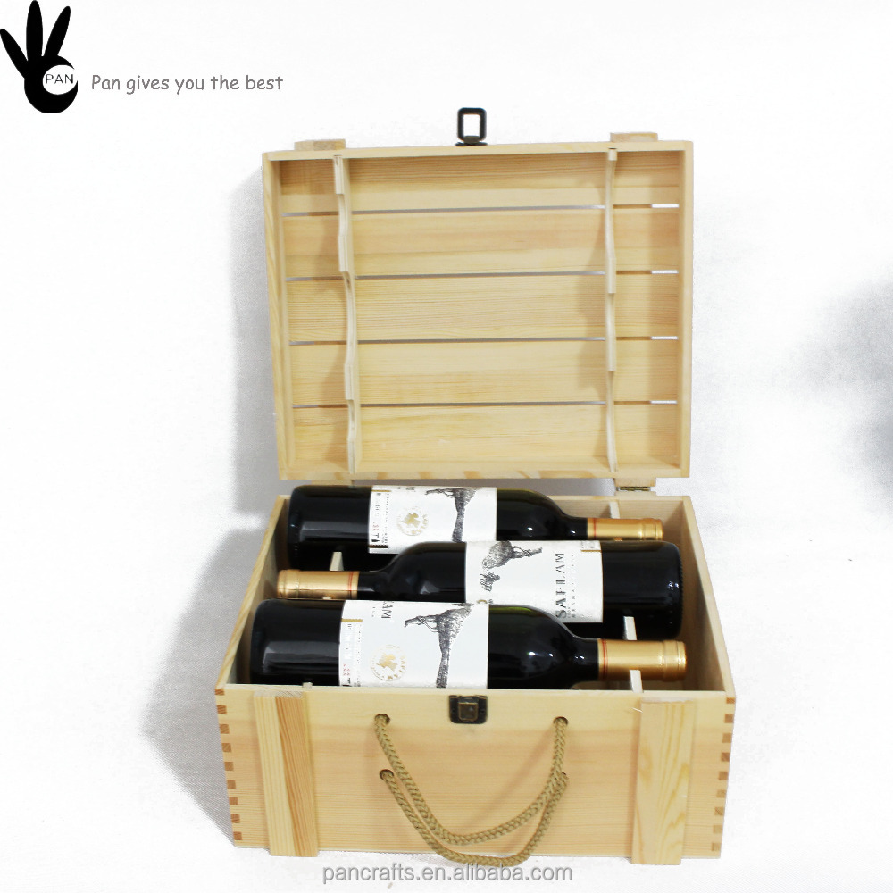 Cheap Wooden Wine Bottle Gift Box For Sale Supply In China