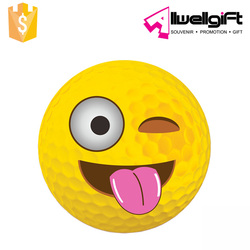 80-90 Hardness Golf Ball Tongue Out Emoji Practice Golf Ball