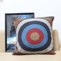 Modern State The Target Design Printed Cotton Cushion Cover Body Pillow Chair Seat Cushion Home Decorative Pillow Case