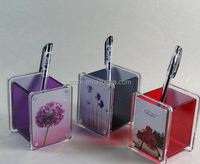 promotion products acrylic pen holder together with picture frame