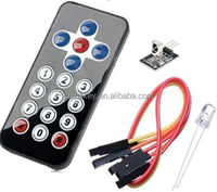 infrared wireless remote control kit (black)
