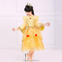 Yellow children princess dresses