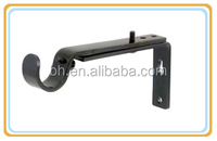 Extendable Metal Iron Curtain Rod Bracket For Window Decoration