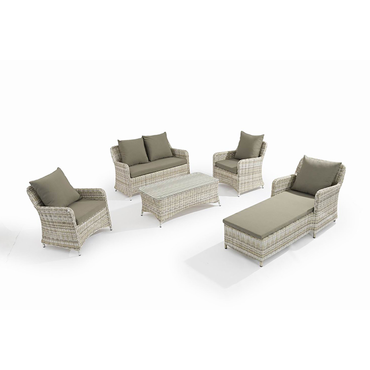 wholesale custom knockdown garden furniture outdoor rattan sofa