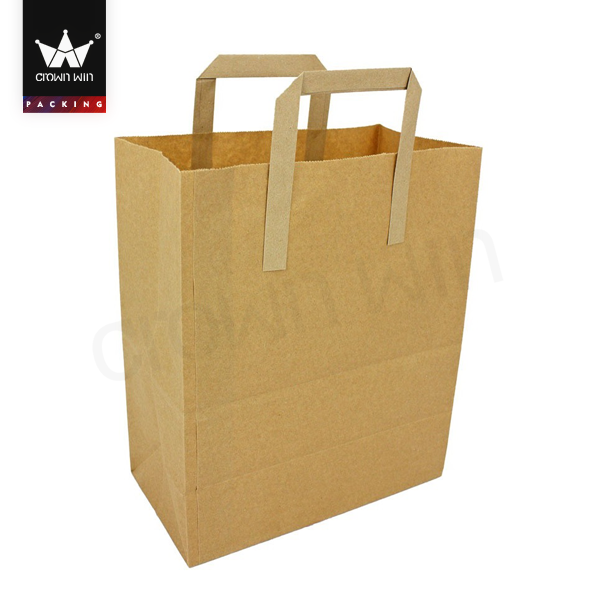 Resealable Brown Biodegradable Paper Bag Design Template