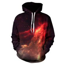 Digital print man coat Space Galaxy 3d Sweatshirts Men Print Stars Autumn Winter Loose Thin Hooded Hoody Tops
