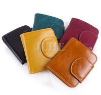 Promotion luxury PU leather small card holder wallet for ladies