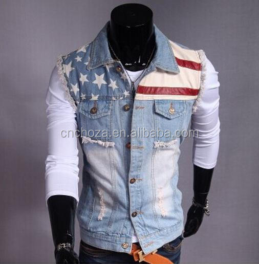 Z53134B Clothing Products Mens Outdoor denim jeans Vest