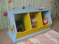 Hot wooden cabinet for children furniture with 3 bin cabinet