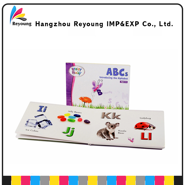 Children Hardcover book printing ABC text books print