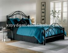 modern king size black double iron bed ML-1