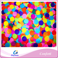 Biodegradable colorful paper confetti for weddings