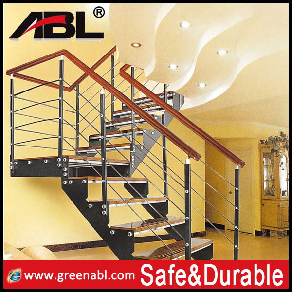 Modern house design stainless steel stair railing