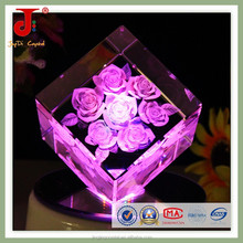 Square Crystal Wedding Anniversary Gifts With rose shape in 2015