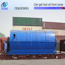 Waste Tyre Recycling Production Line to Get Crude Oil, Steel, and Carbon Black